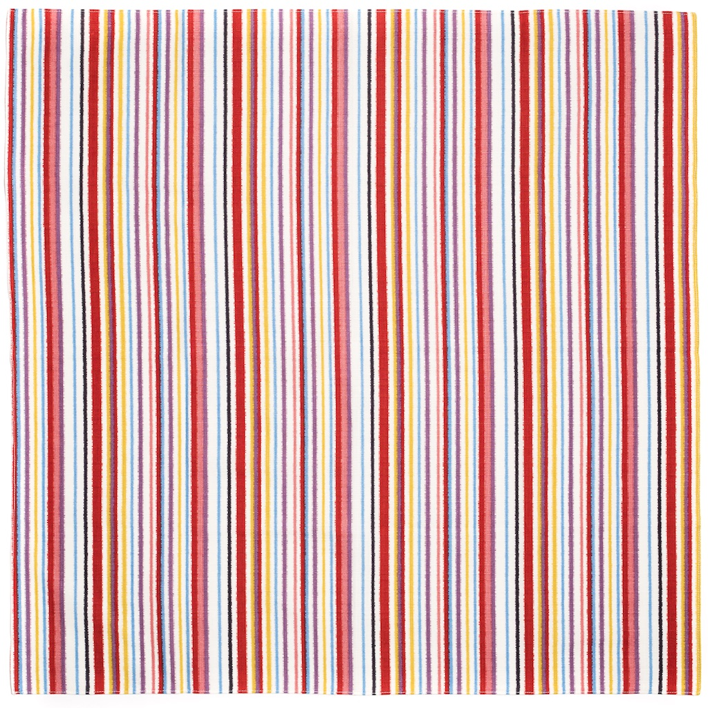 Furoshiki Moga Stripes Colorful 68cm Live Green
