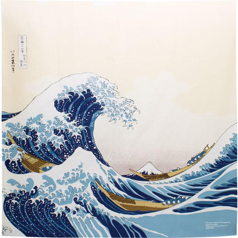 Furoshiki Ukiyo E Die Grosse Welle Vor Kanagawa 48104cm Live Green